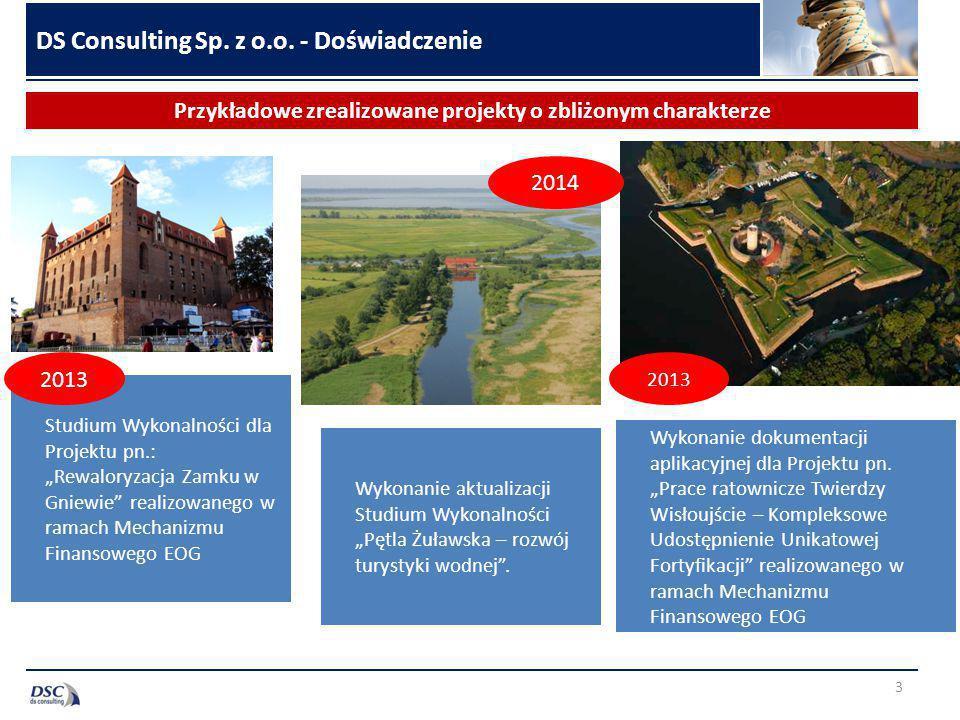 3 Przykładowe zrealizowane projekty o zbliżonym charakterze DS Consulting Sp.