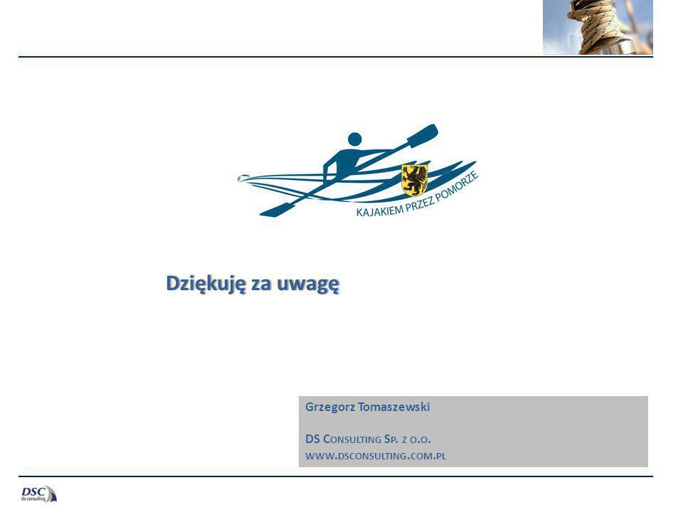 Dziękuję za uwagęDziękuję za uwagę Grzegorz Tomaszewski DS C ONSULTING S P. Z O. O. WWW. DSCONSULTING. COM. PL