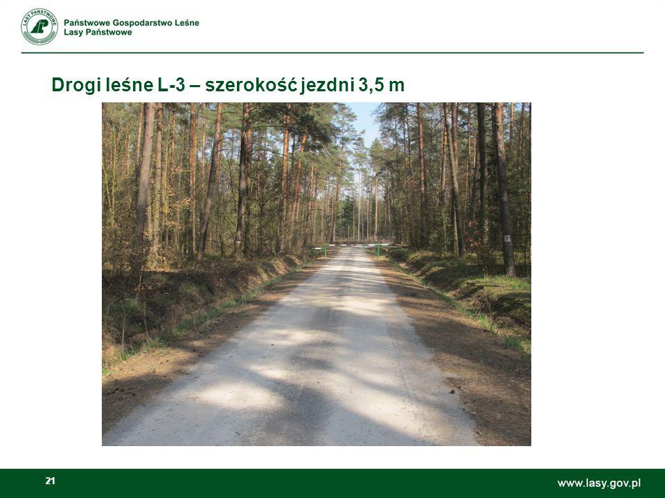 21 Drogi leśne L-3 – szerokość jezdni 3,5 m