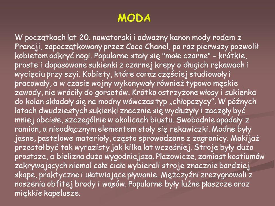 MODA W początkach lat 20.