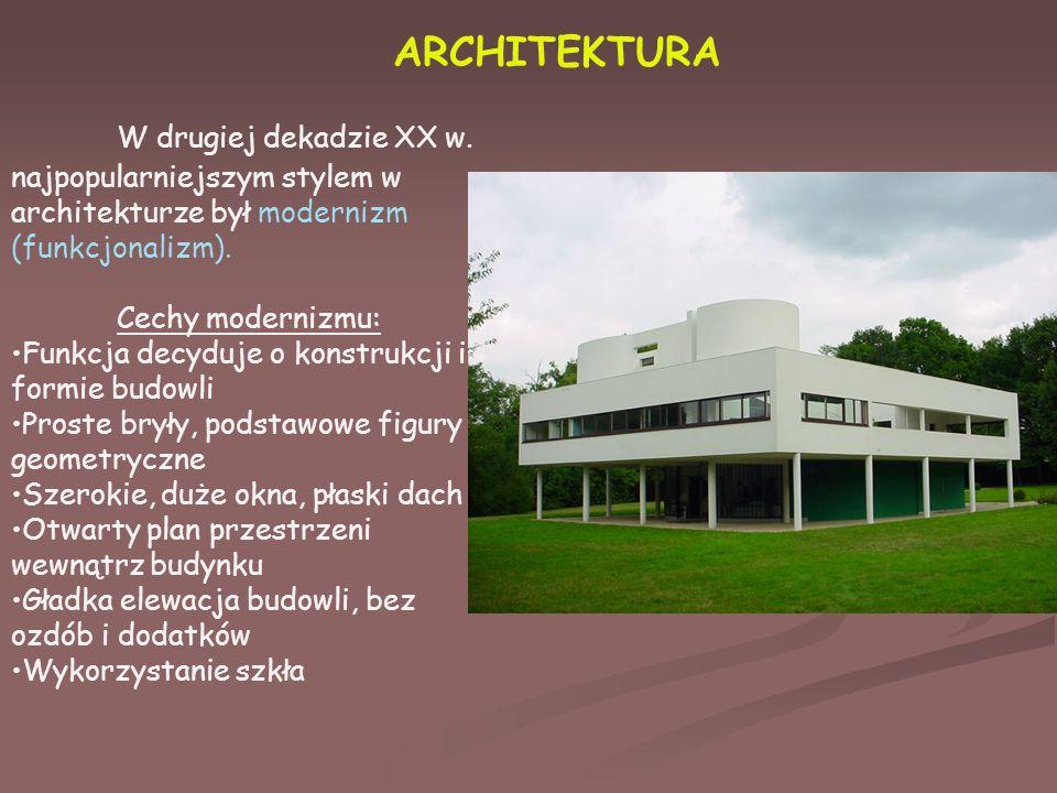 ARCHITEKTURA W drugiej dekadzie XX w.