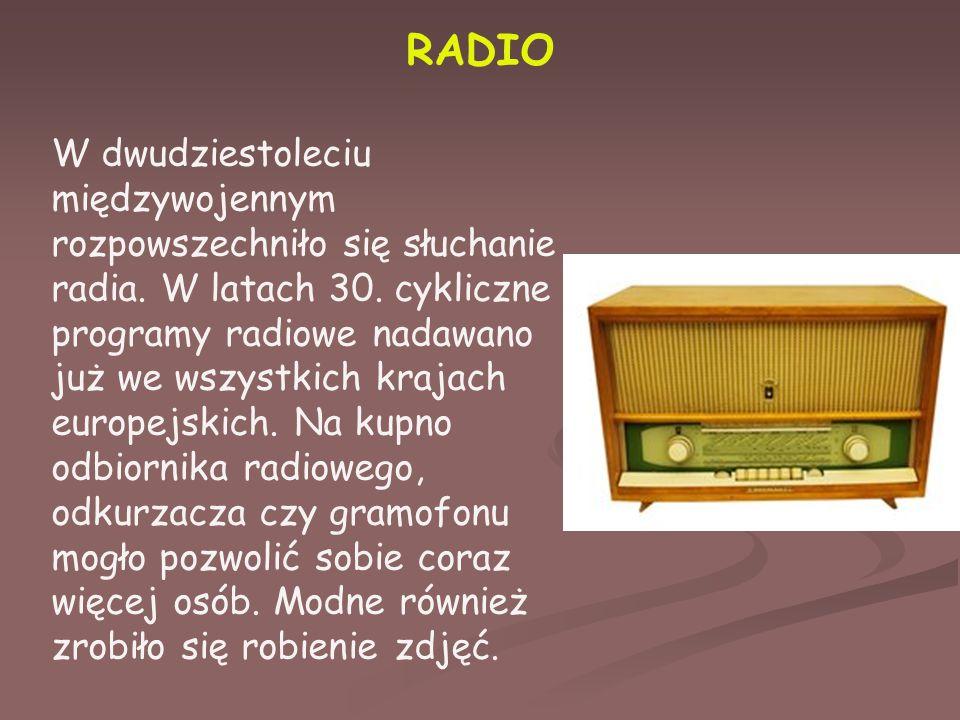 RADIO W dwudziestoleciu międzywojennym rozpowszechniło się słuchanie radia.