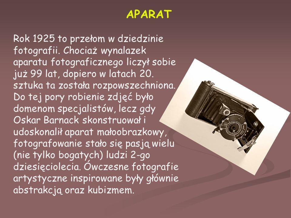 APARAT Rok 1925 to przełom w dziedzinie fotografii.