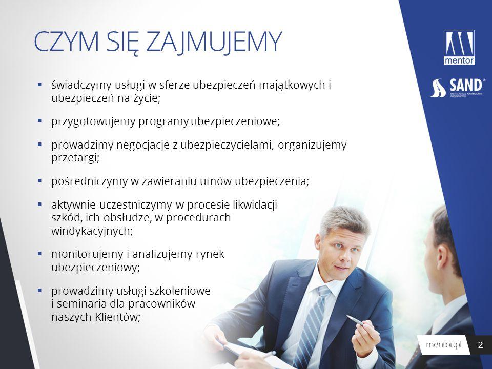 CZYM SIĘ ZAJMUJEMY  świadczymy usługi w sferze ubezpieczeń majątkowych i ubezpieczeń na życie;  przygotowujemy programy ubezpieczeniowe;  prowadzim