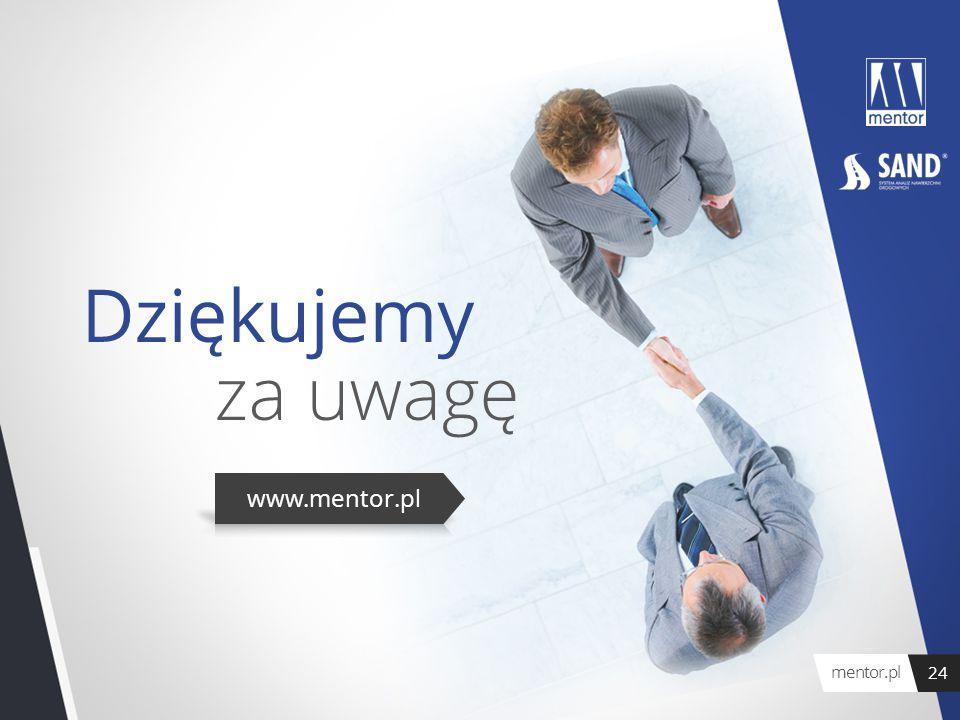 Dziękujemy za uwagę mentor.pl 24