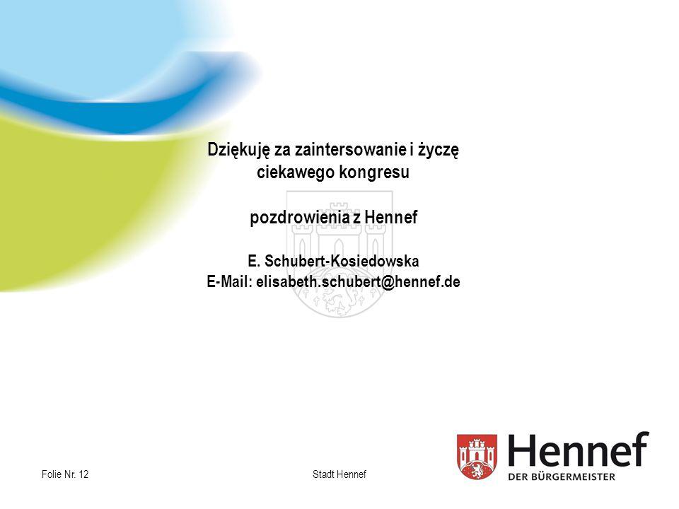 Dziękuję za zaintersowanie i życzę ciekawego kongresu pozdrowienia z Hennef E.