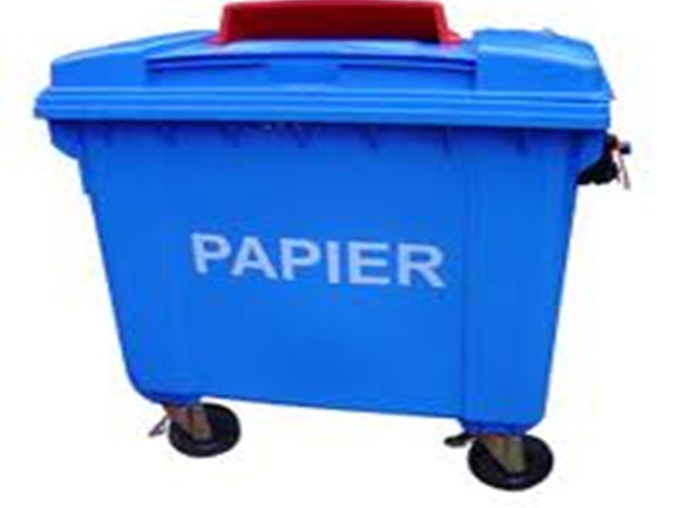 Segregacja papieru. Tu wrzucam: gazety i czasopisma katalogi i prospekty papier szkolny i biurowy książki w miękkich okładkach lub z usuniętymi twardy