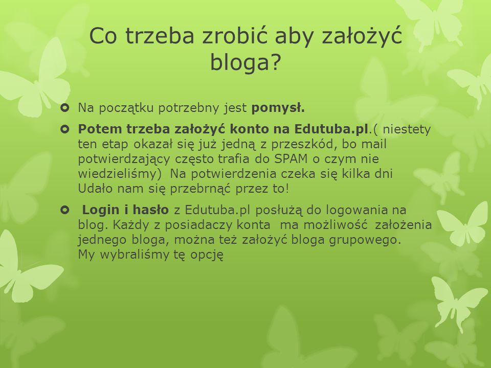 Co trzeba zrobić aby założyć bloga.  Na początku potrzebny jest pomysł.