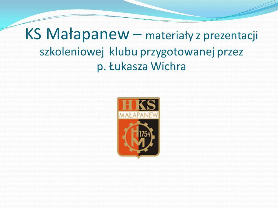 KS Małapanew – materiały z prezentacji szkoleniowej klubu przygotowanej przez p. Łukasza Wichra
