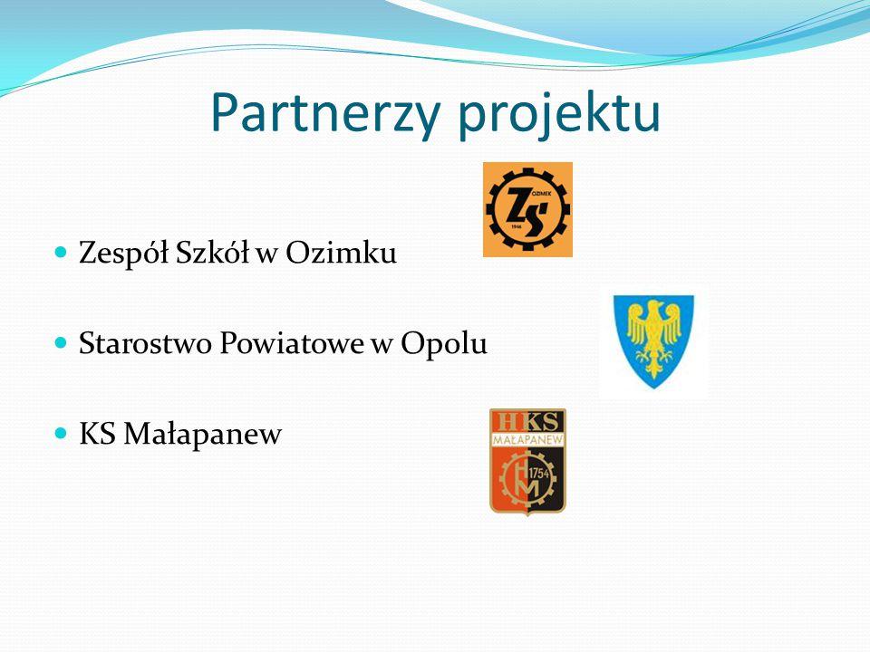 Partnerzy projektu Zespół Szkół w Ozimku Starostwo Powiatowe w Opolu KS Małapanew