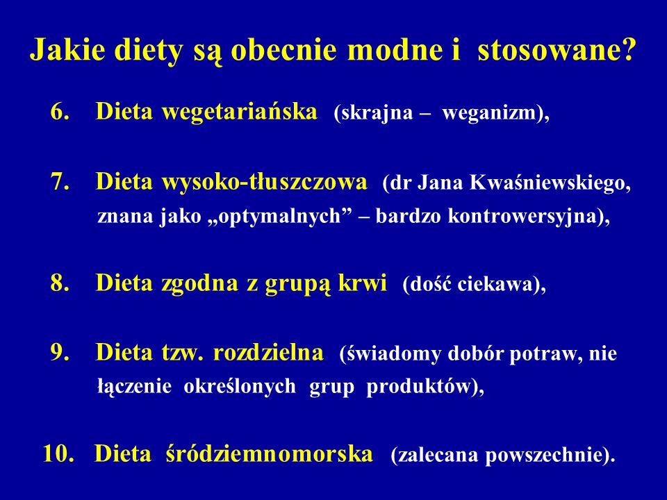 Jakie diety są obecnie modne i stosowane? 6. Dieta wegetariańska (skrajna – weganizm), 7. Dieta wysoko-tłuszczowa (dr Jana Kwaśniewskiego, znana jako