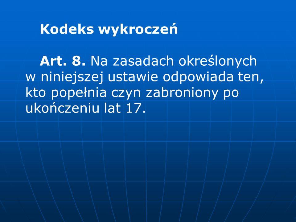 Kodeks wykroczeń Art.8.