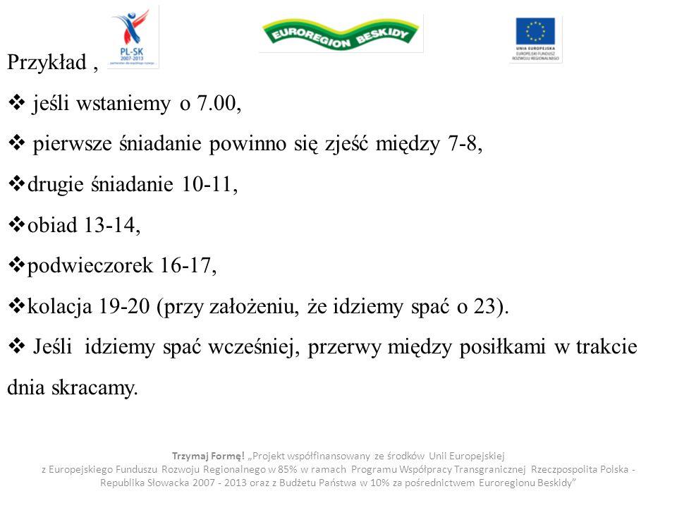 """Trzymaj Formę! """"Projekt współfinansowany ze środków Unii Europejskiej z Europejskiego Funduszu Rozwoju Regionalnego w 85% w ramach Programu Współpracy"""