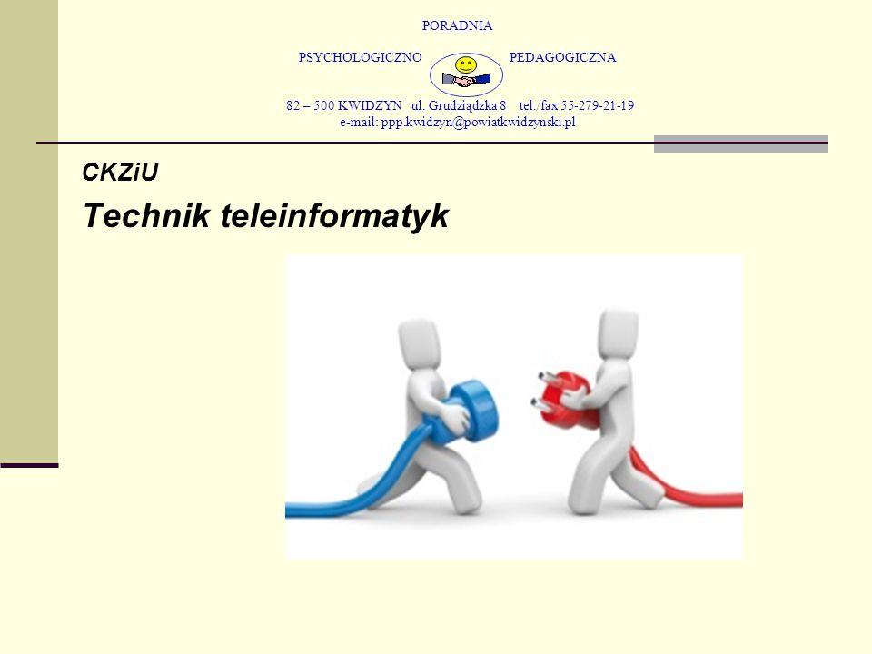 PORADNIA PSYCHOLOGICZNO PEDAGOGICZNA 82 – 500 KWIDZYN ul. Grudziądzka 8 tel./fax 55-279-21-19 e-mail: ppp.kwidzyn@powiatkwidzynski.pl CKZiU Technik te