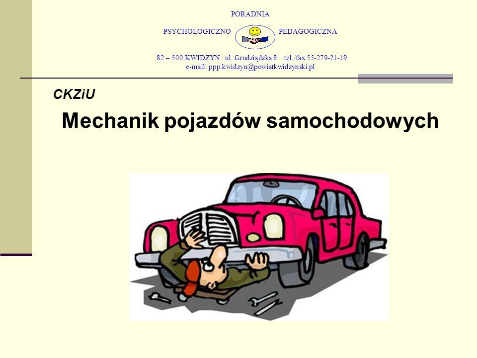 PORADNIA PSYCHOLOGICZNO PEDAGOGICZNA 82 – 500 KWIDZYN ul. Grudziądzka 8 tel./fax 55-279-21-19 e-mail: ppp.kwidzyn@powiatkwidzynski.pl CKZiU Mechanik p