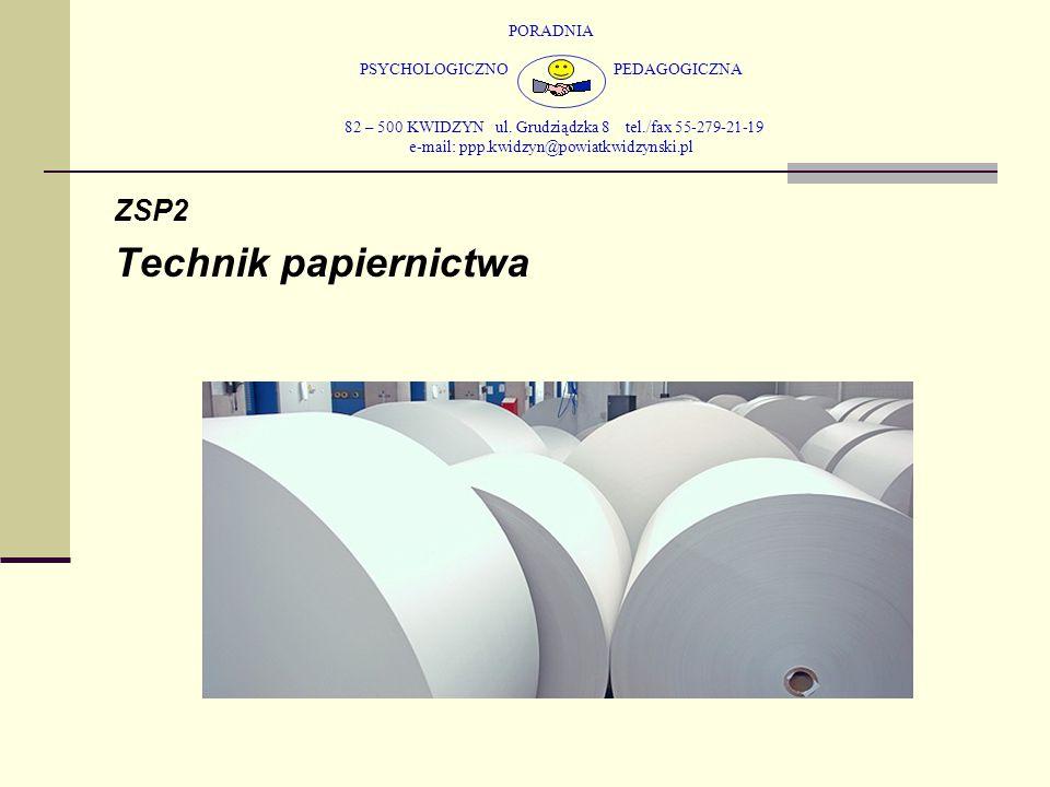 PORADNIA PSYCHOLOGICZNO PEDAGOGICZNA 82 – 500 KWIDZYN ul. Grudziądzka 8 tel./fax 55-279-21-19 e-mail: ppp.kwidzyn@powiatkwidzynski.pl ZSP2 Technik pap