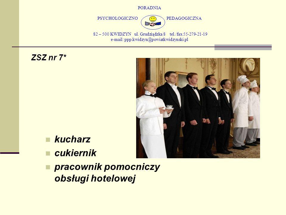 PORADNIA PSYCHOLOGICZNO PEDAGOGICZNA 82 – 500 KWIDZYN ul. Grudziądzka 8 tel./fax 55-279-21-19 e-mail: ppp.kwidzyn@powiatkwidzynski.pl ZSZ nr 7* kuchar