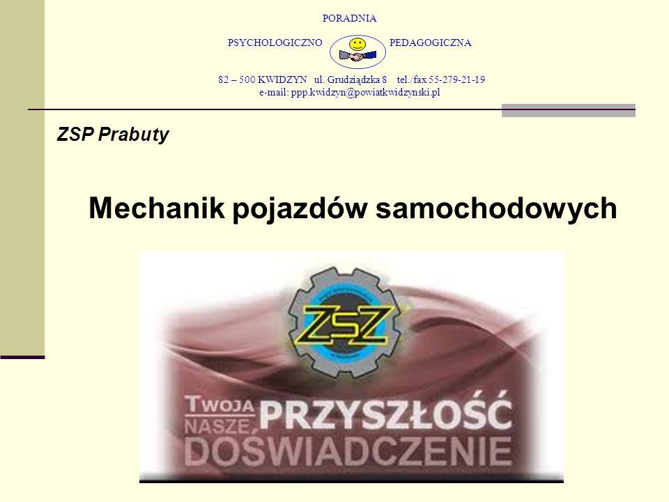 PORADNIA PSYCHOLOGICZNO PEDAGOGICZNA 82 – 500 KWIDZYN ul. Grudziądzka 8 tel./fax 55-279-21-19 e-mail: ppp.kwidzyn@powiatkwidzynski.pl ZSP Prabuty Mech