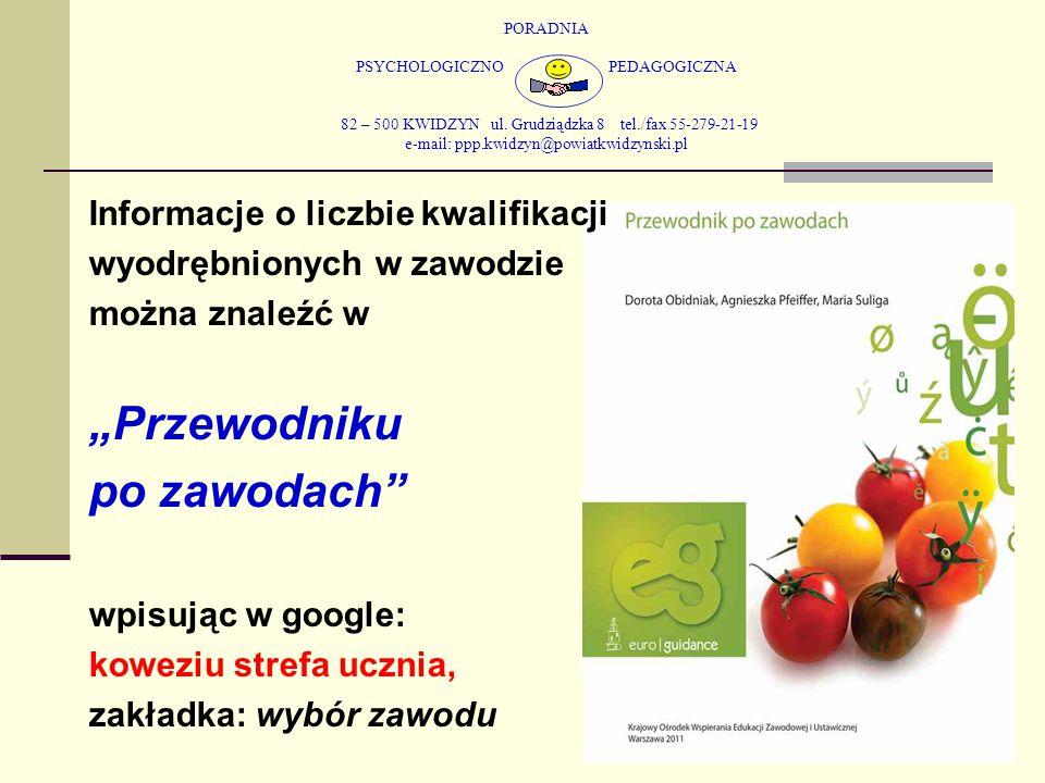 PORADNIA PSYCHOLOGICZNO PEDAGOGICZNA 82 – 500 KWIDZYN ul. Grudziądzka 8 tel./fax 55-279-21-19 e-mail: ppp.kwidzyn@powiatkwidzynski.pl Informacje o lic
