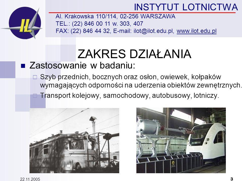 22.11.2005 3 INSTYTUT LOTNICTWA Al. Krakowska 110/114, 02-256 WARSZAWA TEL.: (22) 846 00 11 w.