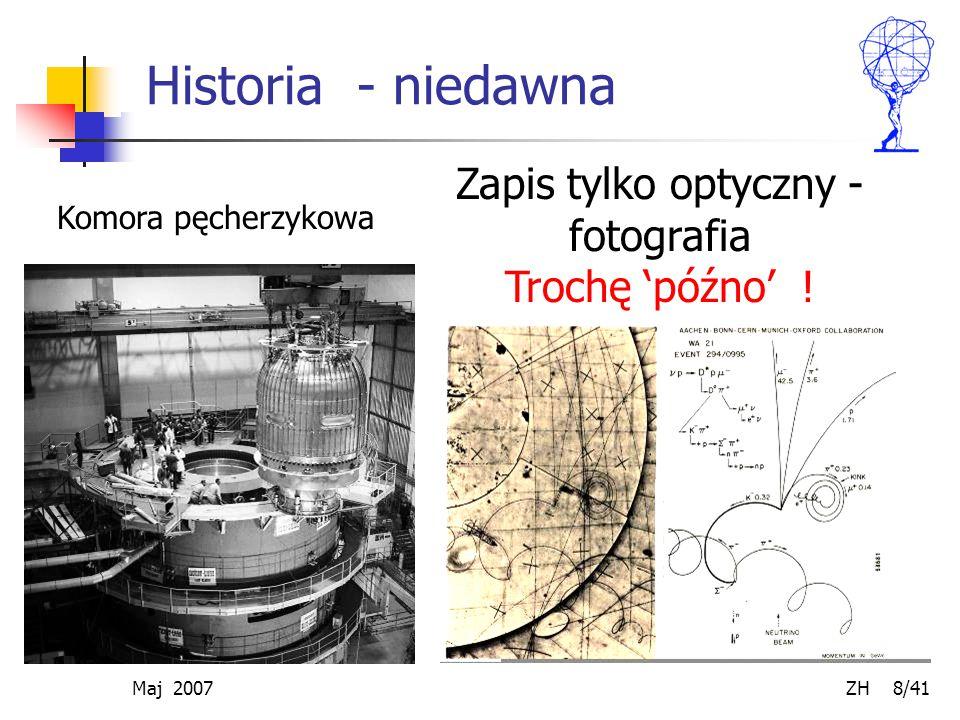 Maj 2007 ZH 8/41 Historia - niedawna Zapis tylko optyczny - fotografia Trochę 'późno' ! Komora pęcherzykowa