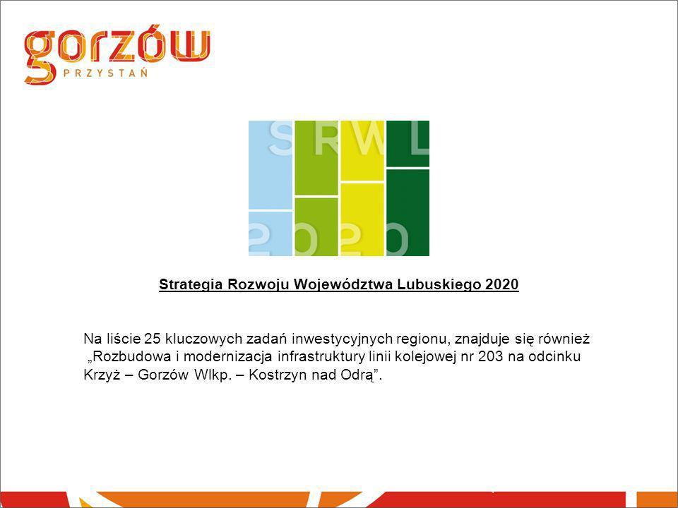 """Strategia Rozwoju Województwa Lubuskiego 2020 Na liście 25 kluczowych zadań inwestycyjnych regionu, znajduje się również """"Rozbudowa i modernizacja inf"""
