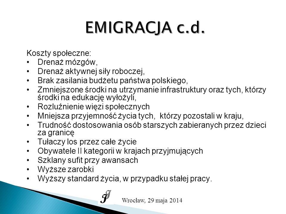 """PRZEDSIĘBIORCZOŚĆ AKADEMICKA Wrocław, 29 maja 2014 NIEMCY  """"Tworzenie miejsc pracy nie jest celem samym w sobie."""