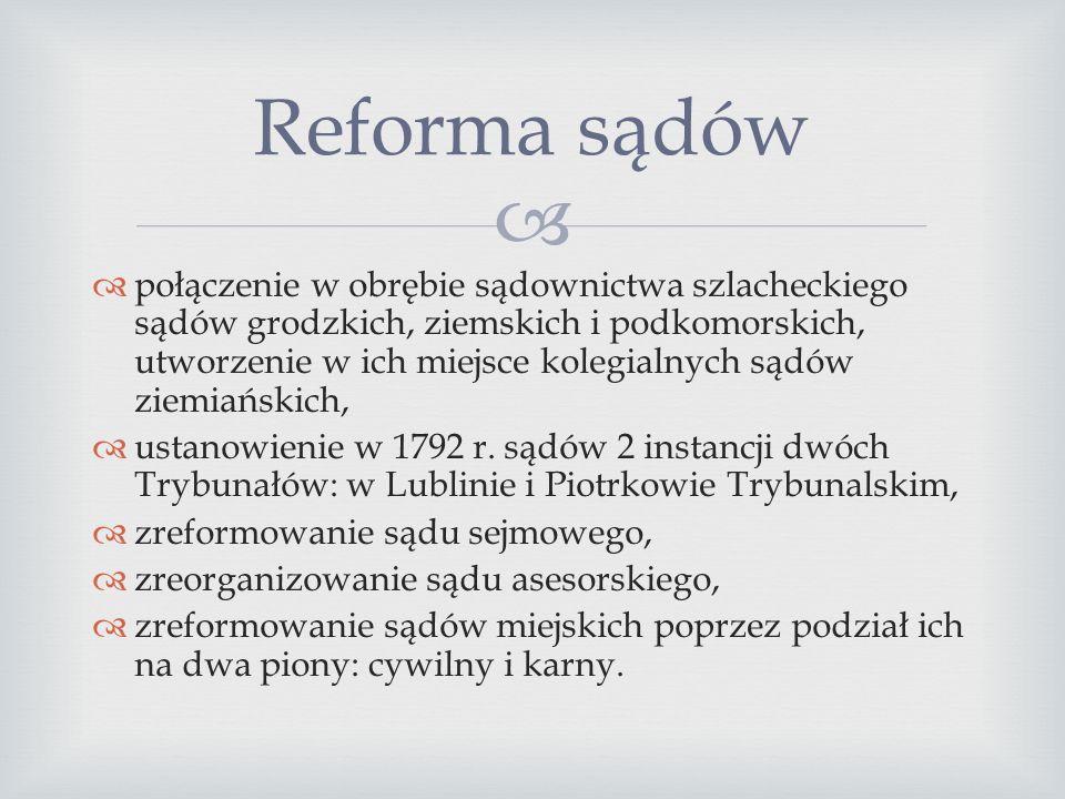  Ustrój polityczny Sejm:  stał się dwuizbowym organem władzy ustawodawczej, natomiast przestał być instytucją trójstanową. Król:  miał stać na czel