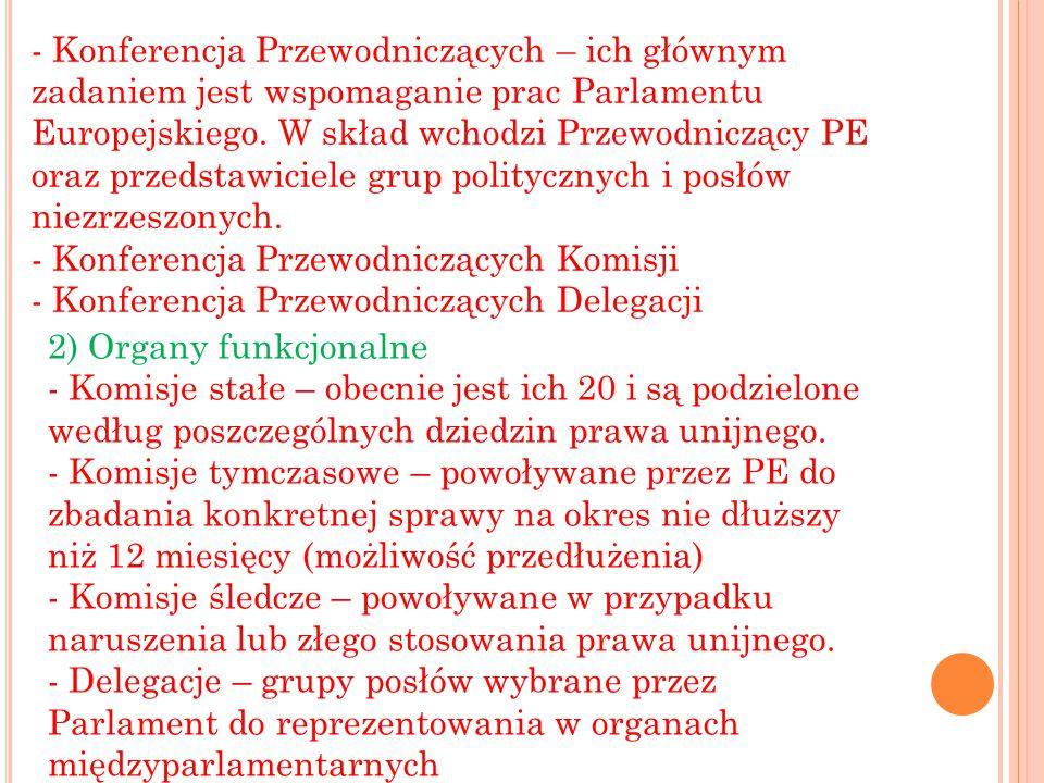 3) Organy polityczne Posłowie zasiadają w Parlamencie według przynależności do wybranej ogólnoeuropejskiej frakcji politycznej.