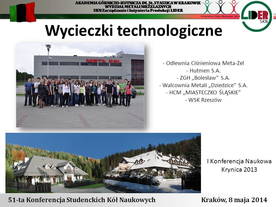 """Wycieczki technologiczne I Konferencja Naukowa Krynica 2013 - Odlewnia Ciśnieniowa Meta-Zel - Hutmen S.A. - ZGH """"Bolesław"""" S.A. - Walcownia Metali """"Dz"""