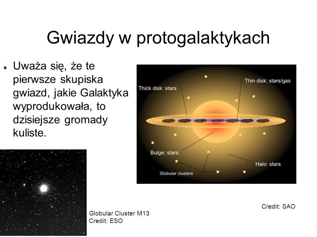 Gwiazdy w protogalaktykach Uważa się, że te pierwsze skupiska gwiazd, jakie Galaktyka wyprodukowała, to dzisiejsze gromady kuliste. Credit: SAO Globul