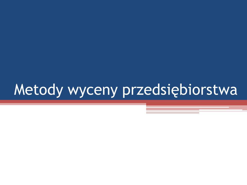 Zgodnie z metodą wartości księgowej wartość przedsiębiorstwa jest to wartość aktywów netto: Aktywa – zobowiązania długo i krótkoterminowe = kapitał własny (aktywa netto) Prostota i łatwość metody księgowej sprawia, że jest ona w Polsce bardzo popularna.