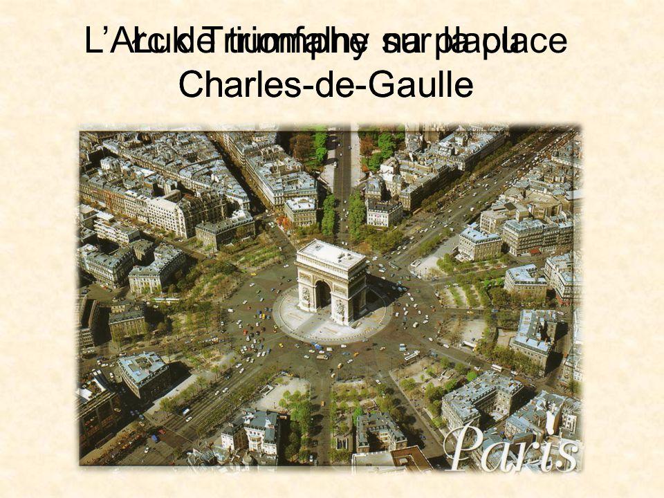 L'Arc de triomphe sur la place Charles-de-Gaulle Łuk Triumfalny na placu Charles-de-Gaulle