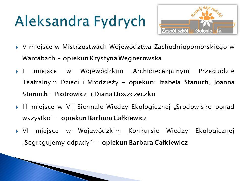  Wyróżnienie w Regionalnym Konkursie Szkół Muzycznych I stopnia województwa zachodniopomorskiego w Szczecinie – opiekun Jolanta Kowalska