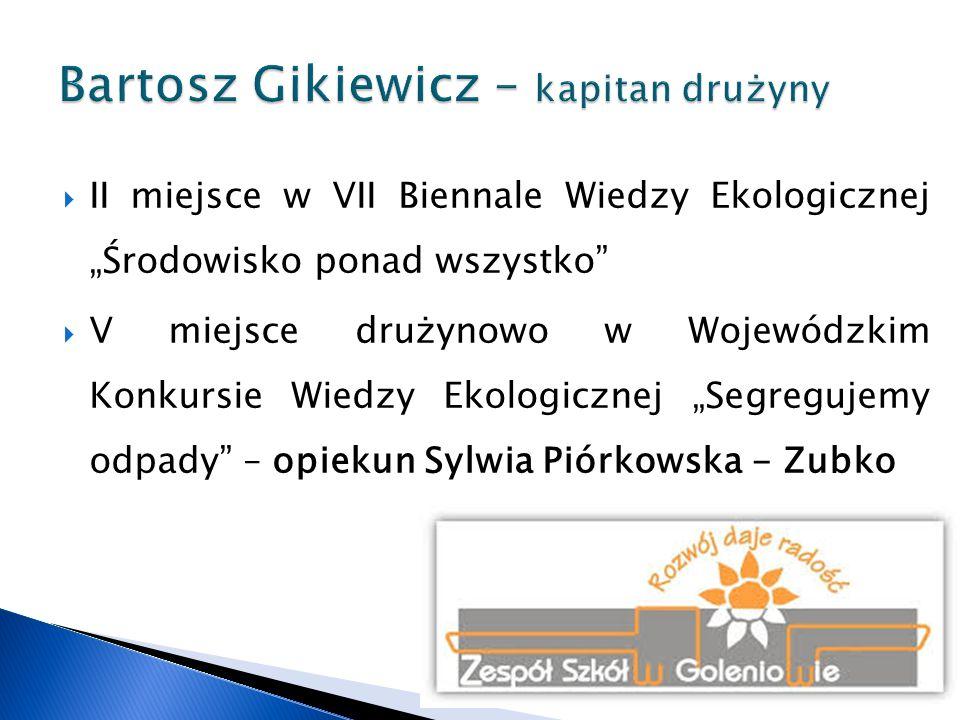 """ II miejsce indywidualnie i III miejsce drużynowo w Konkursie Wojewódzkim """"Internetowa Mądra Głowa - opiekun Renata Dobrowolska"""