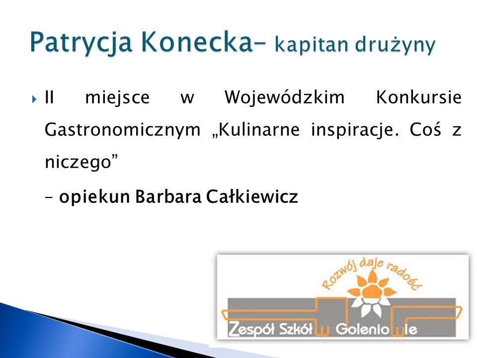 """ VI miejsce w Wojewódzkim Konkursie Wiedzy Ekologicznej """"Segregujemy odpady - opiekun Barbara Całkiewicz"""