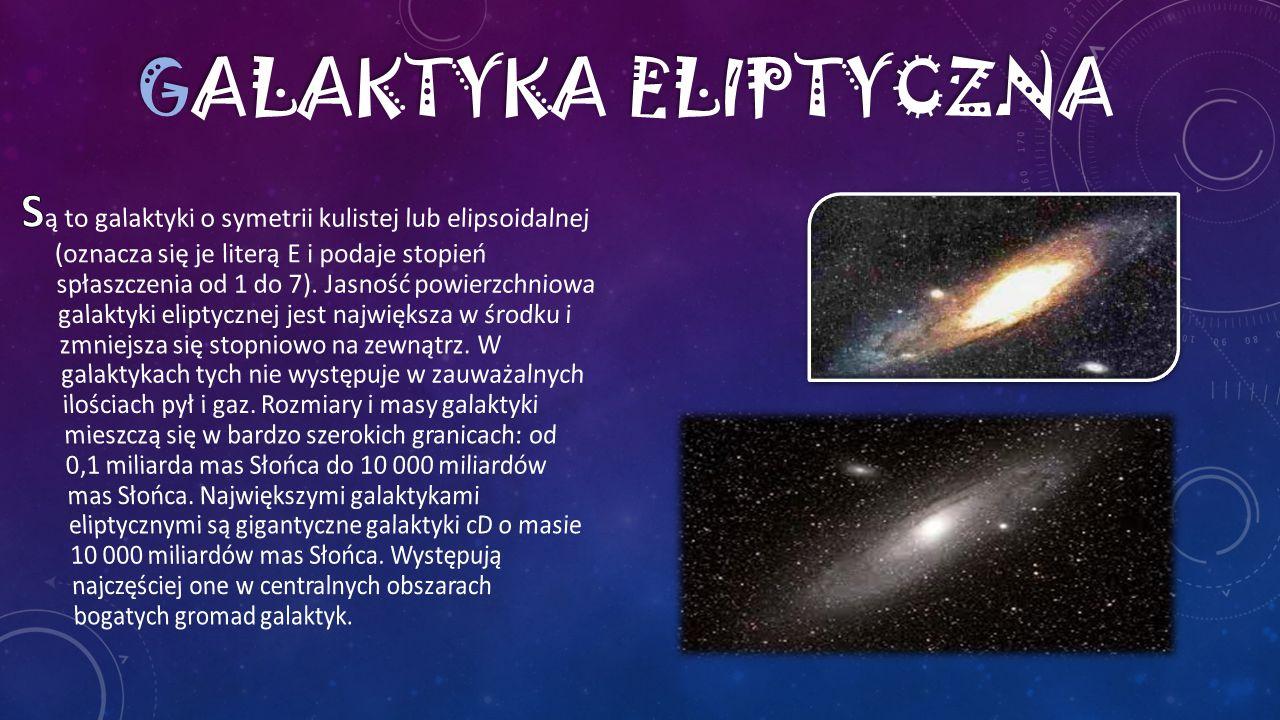 S S ą to galaktyki o osobliwym wyglądzie, nie wykazujące symetrii charakterystycznych dla galaktyk eliptycznych i spiralnych.