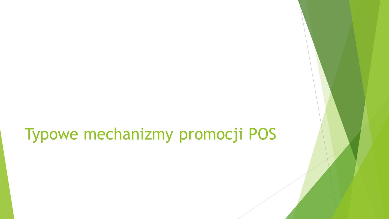 Typowe mechanizmy promocji POS