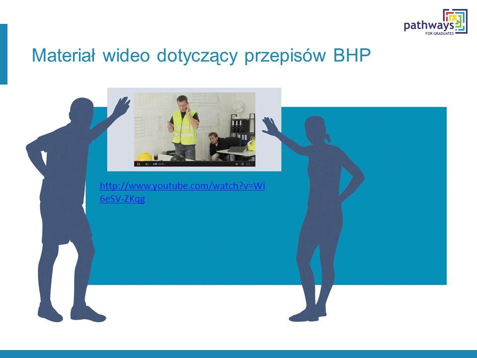 Materiał wideo dotyczący przepisów BHP http://www.youtube.com/watch?v=Wi 6eSV-ZKqg