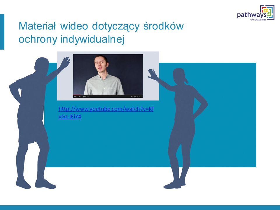 Materiał wideo dotyczący środków ochrony indywidualnej http://www.youtube.com/watch?v=Kf vGz-IEiY4