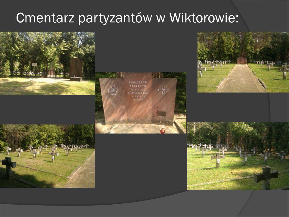 Cmentarz partyzantów w Wiktorowie: