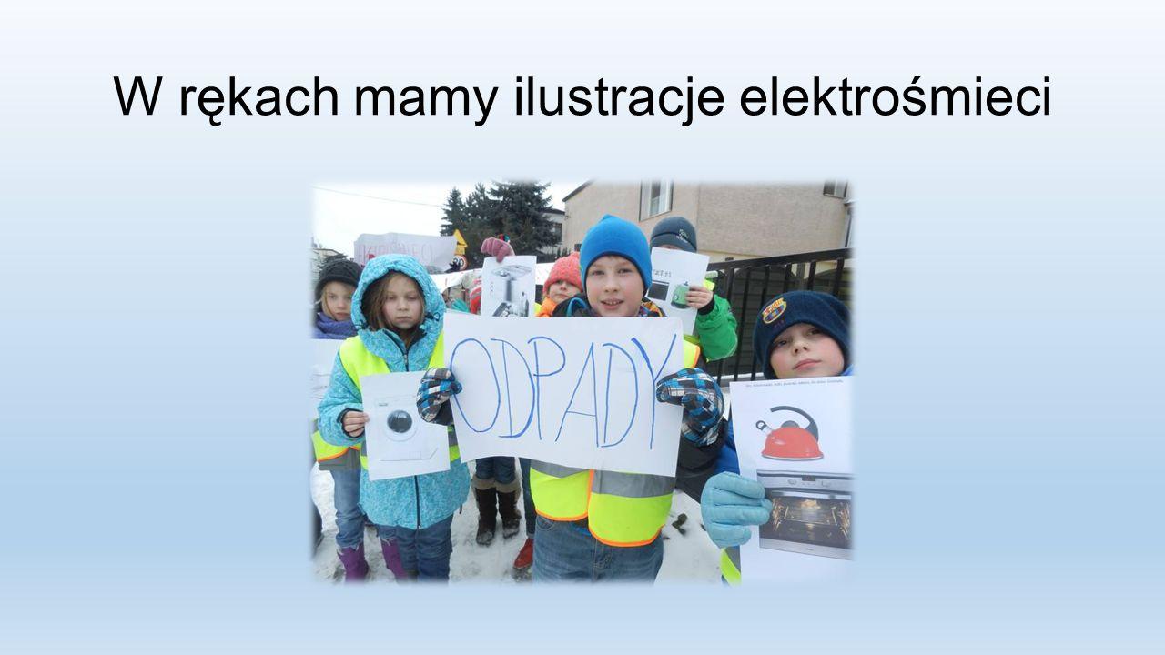 W rękach mamy ilustracje elektrośmieci