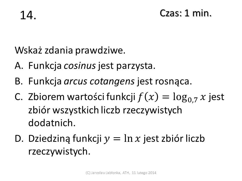 13. Czas: 1 min. (C) Jarosław Jabłonka, ATH, 11 lutego 2014