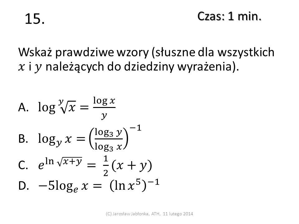 14. Czas: 1 min. (C) Jarosław Jabłonka, ATH, 11 lutego 2014