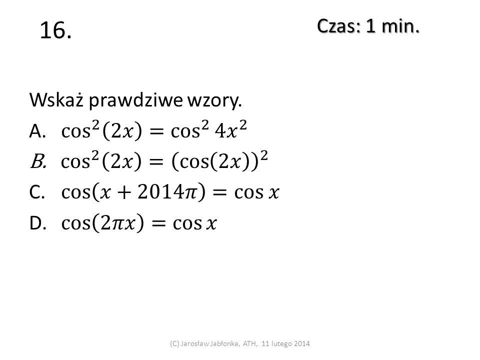 15. Czas: 1 min. (C) Jarosław Jabłonka, ATH, 11 lutego 2014