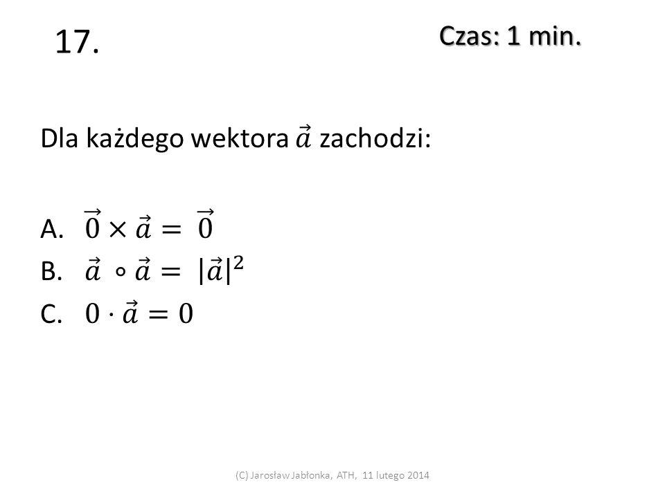 16. Czas: 1 min. (C) Jarosław Jabłonka, ATH, 11 lutego 2014