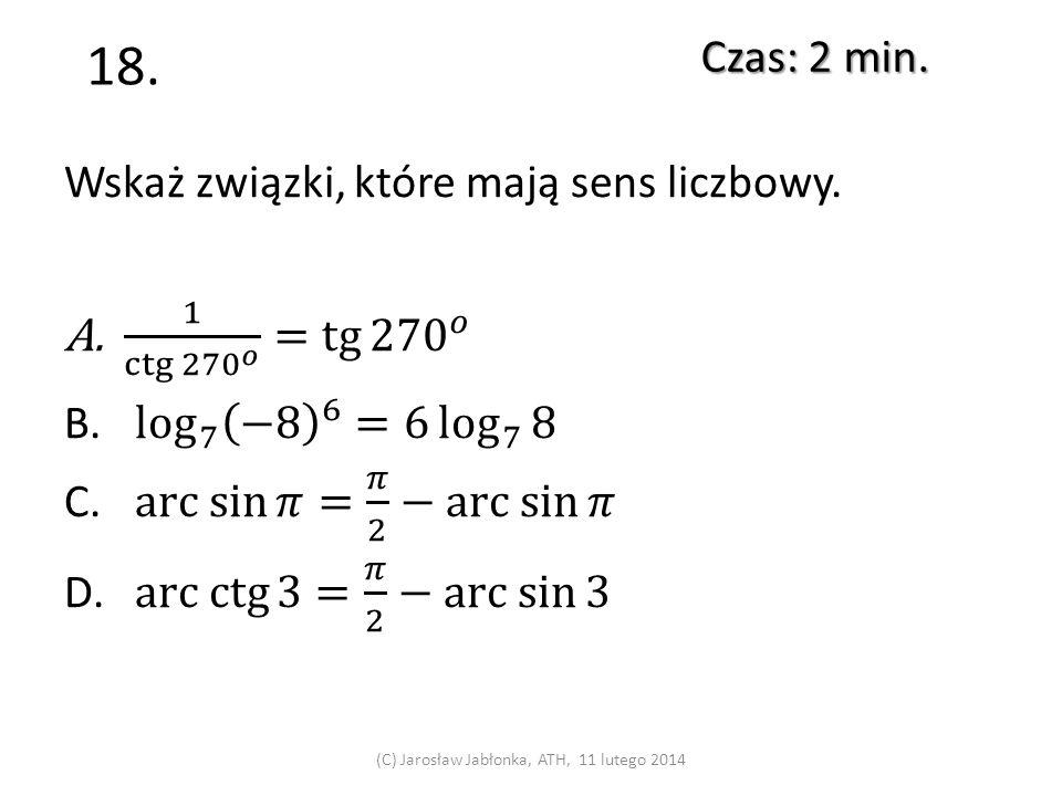 17. Czas: 1 min. (C) Jarosław Jabłonka, ATH, 11 lutego 2014