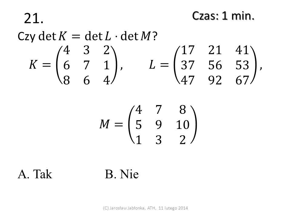 20. Czas: 1 min. (C) Jarosław Jabłonka, ATH, 11 lutego 2014