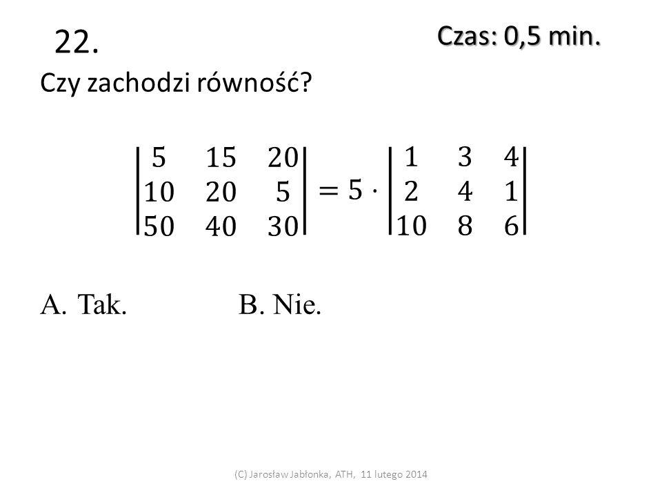 21. Czas: 1 min. (C) Jarosław Jabłonka, ATH, 11 lutego 2014