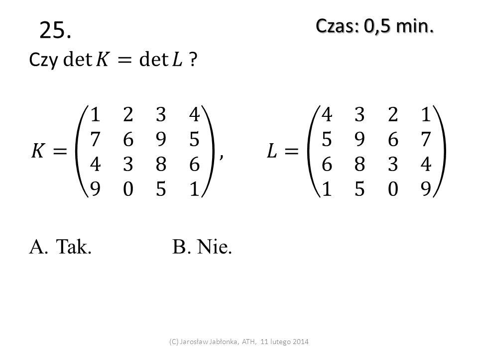 24. Czas: 0,5 min. (C) Jarosław Jabłonka, ATH, 11 lutego 2014